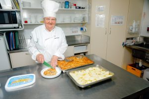 Meal prep at Southanjer rest home