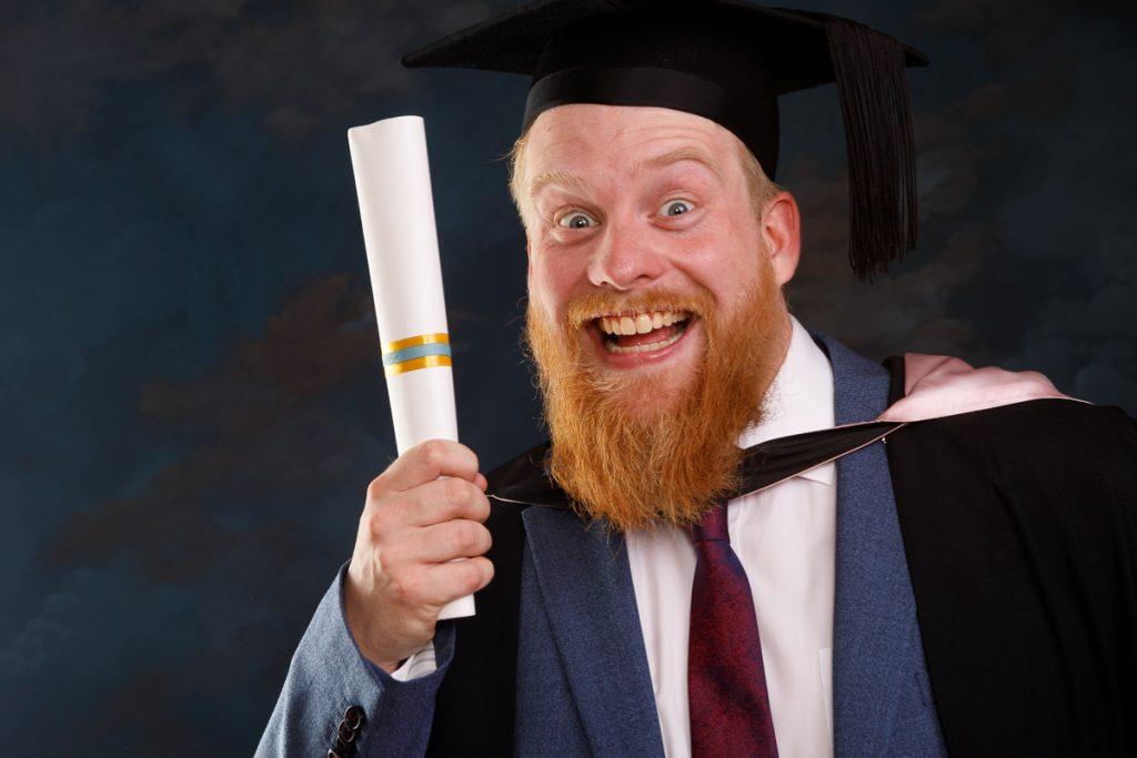 Studio photo of Otago arts graduate
