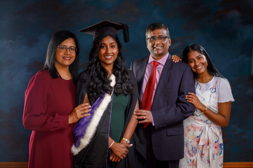 Otago dentistry graduation photo with family